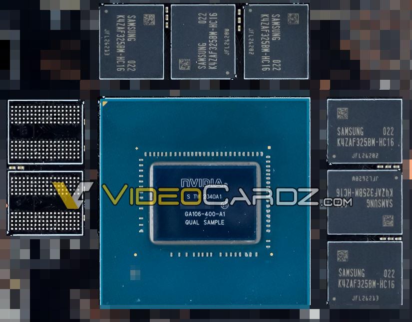 NVIDIA GA106 'Ampere' GPU For GeForce RTX 3060 12 GB Graphics Card Dalam Foto