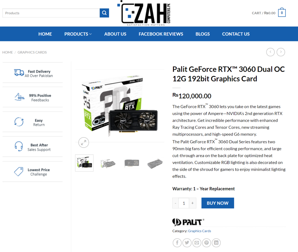 NVIDIA GeForce RTX 3060 Being Sold in Pakistan Weeks Before Launch, Priced at an Outrageous $750 US By Official Distributor
