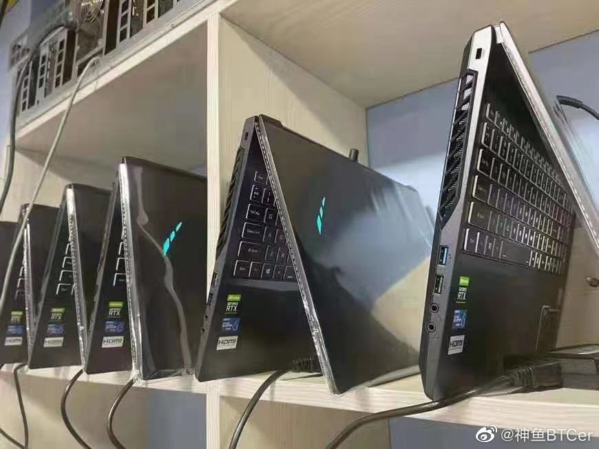 Chinese GPU Miners Now Rushing After NVIDIA GeForce RTX 30 Laptops, Ethereum Cryptocurrency Mining Farm Pictured