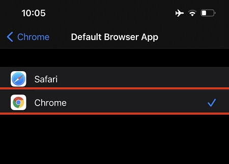 Set Chrome as Default Browser on iPhone title