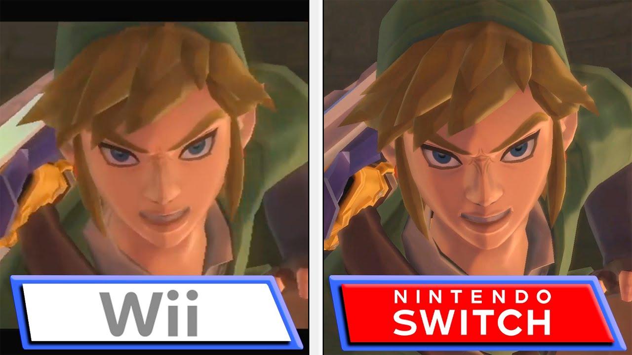 Skyward Sword HD Switch vs Wii Comparison Video