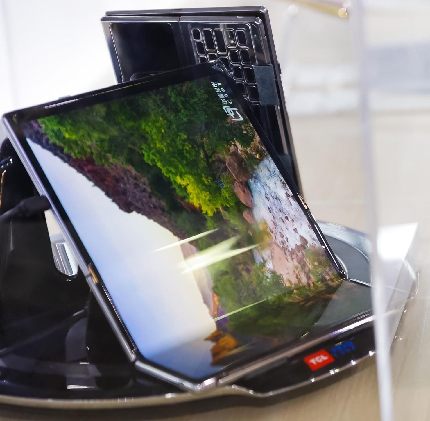 TCL's Latest Double Foldable Concept Adds a Kickstand and Keyboard Into the Mix