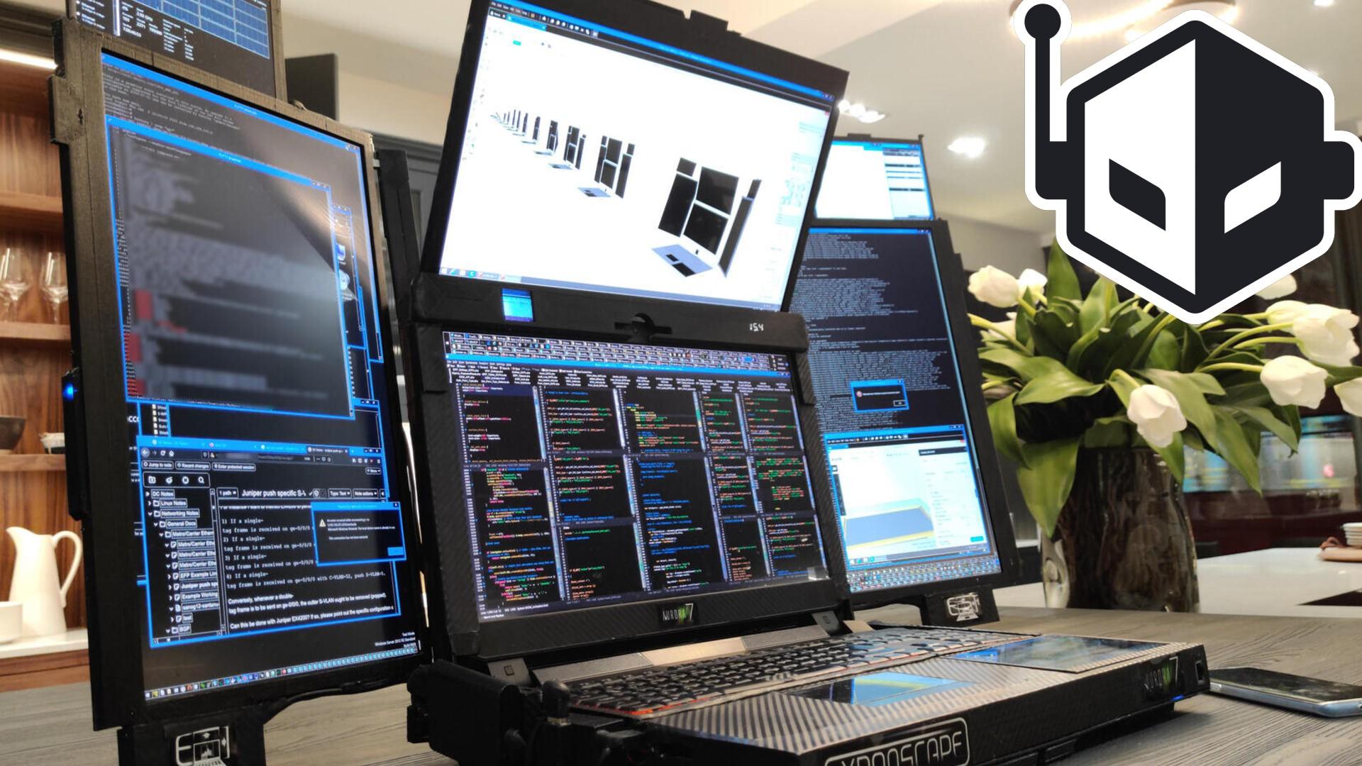 Expanscape Announces the Aurora 7 Laptop Featuring Seven Screens