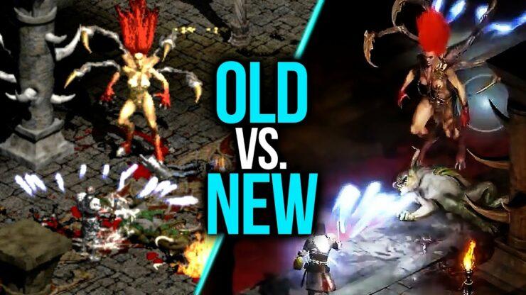 diablo II resurrected vs original comparison video