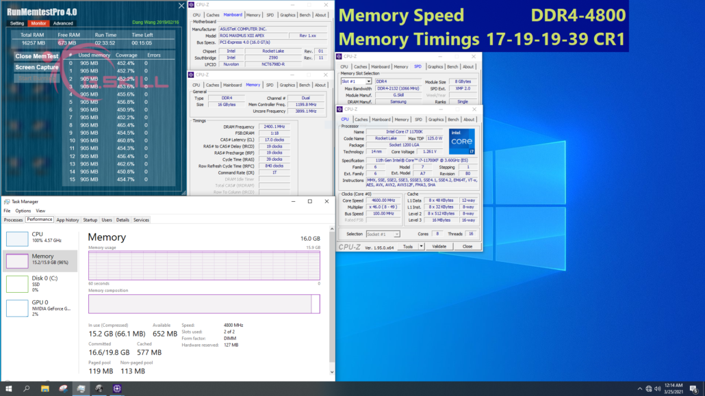 G.Skill Unleashes Extremely Fast DDR4 Memory For Intel's Z590 Platform, Speeds of Up To 5333 MHz CL22 2