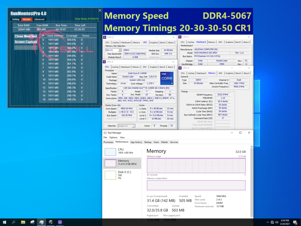 G.Skill Unleashes Extremely Fast DDR4 Memory For Intel's Z590 Platform, Speeds of Up To 5333 MHz CL22 3