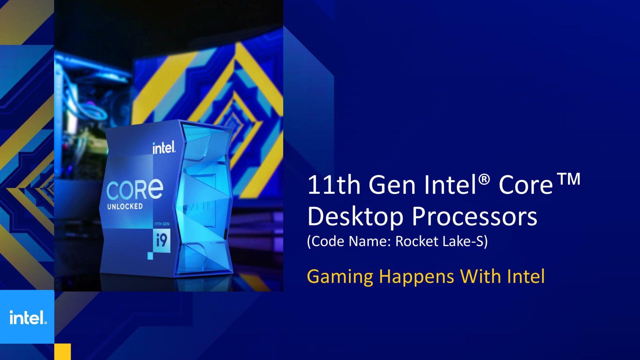 Intel Memperkenalkan 11th Generation 'Rocket Lake' Desktop Processors Dengan Peningkatan IPC 19%