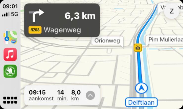 Apple Maps Speed Camera