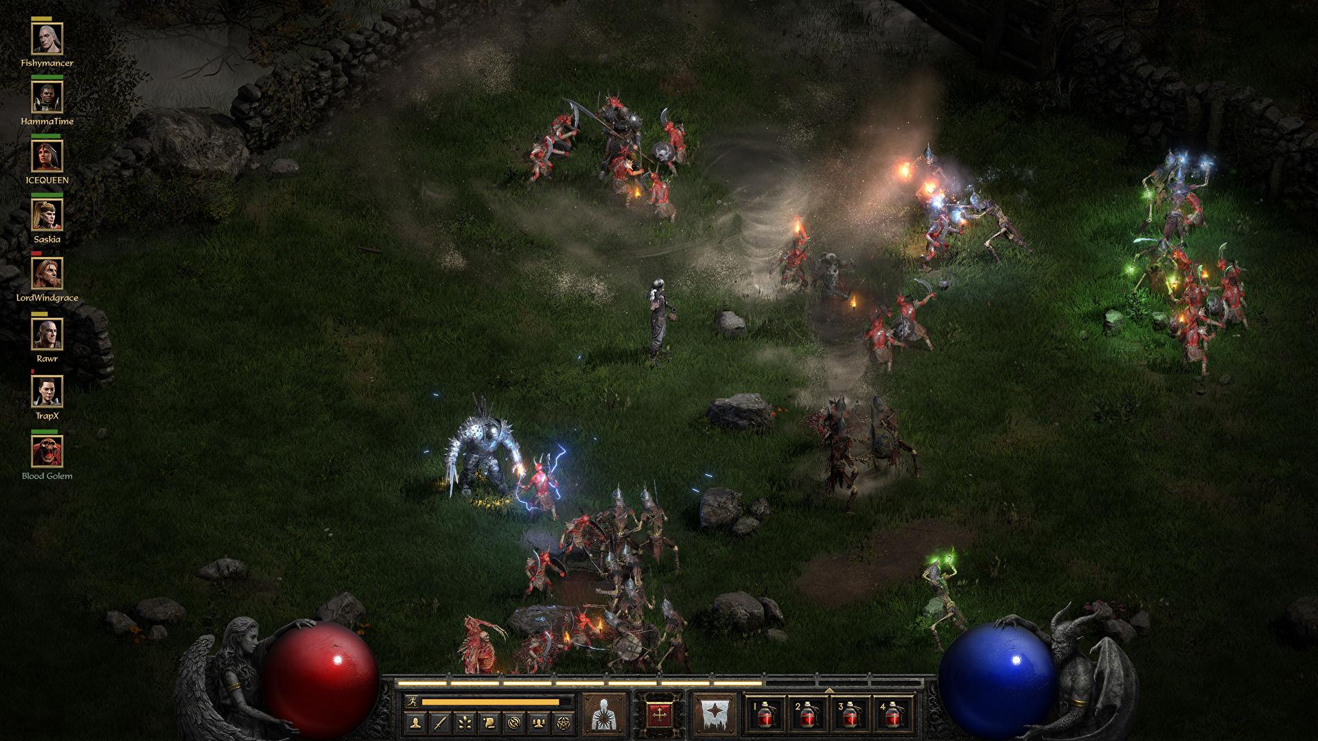 diablo ii resurrected multiplayer stress