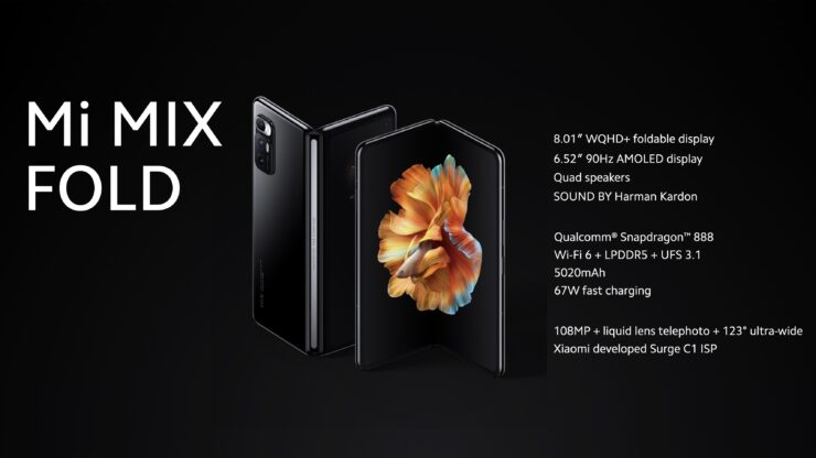 Xiaomi Mi Mix Fold Goes Official and and Battles Samsung for the Top Spot