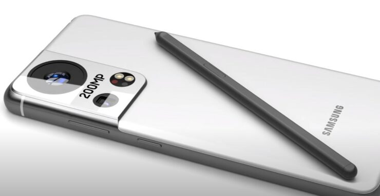 This Galaxy S22 Ultra Concept Has a 200MP Rear Camera Sporting a Massive Lens With Same Punch-Hole Sensor