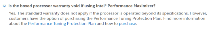 Intel Discontinues Performance Tuning Protection Program Leaving New Overclockers Without Any Assurances