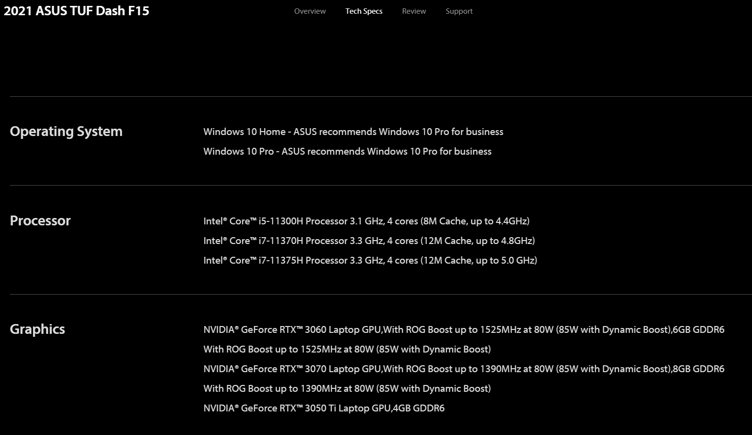 ASUS Accidently Lists Unreleased NVIDIA GeForce RTX 3050 Ti Mobility GPU, Will Feature 4 GB GDDR6 VRAM & Ray Tracing Support