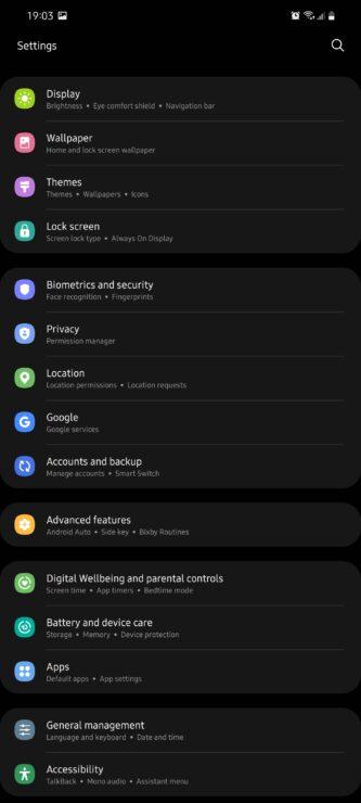 Configure Galaxy S21 Power Button