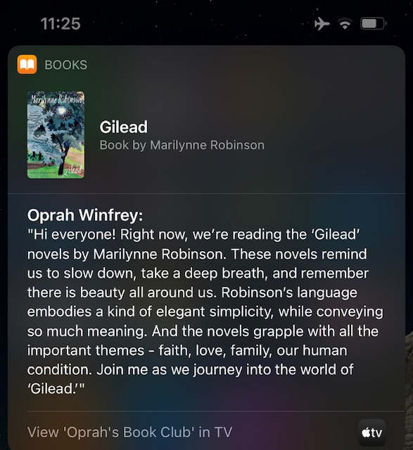 Siri partnership with Oprah for book recommendation