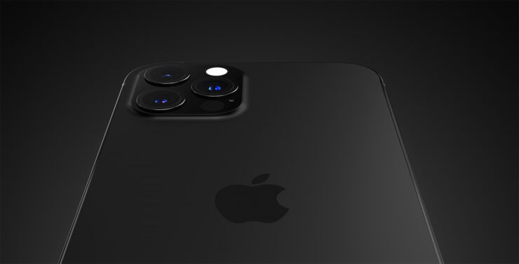 iPhone 13 Pro renders based on previous leaks showing a beautiful matte black finish
