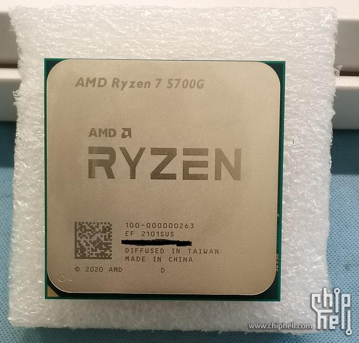 AMD Ryzen 7 5700G Cezanne Zen 3 Desktop APU Retail SKU Benchmark Bocor