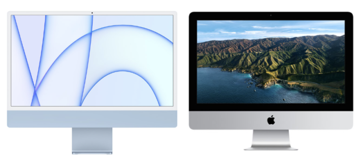 24-inch iMac weight compared to the 21.5-inch model