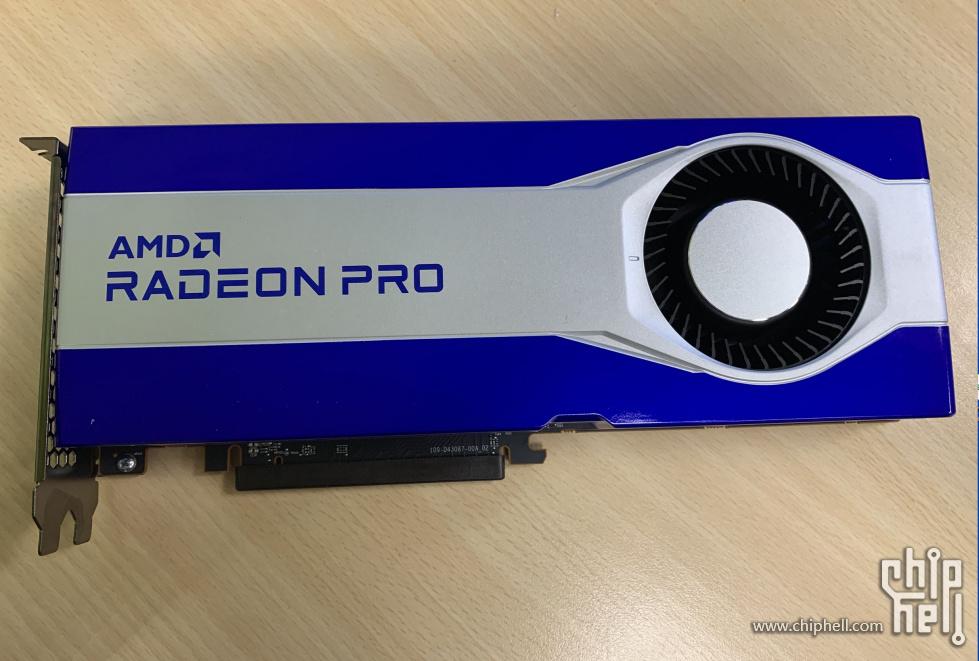 AMD Radeon Pro Graphics Card Featuring Big Navi 21 GPU & 16 GB GDDR6 Memory Pictured