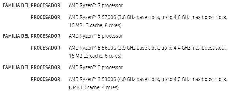 AMD Ryzen 5000G Cezanne Desktop Zen 3 APUs