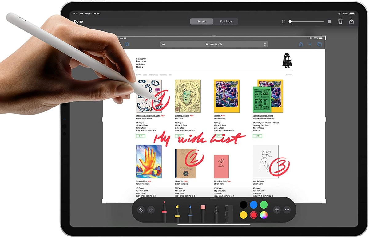 glossy finish with apple pencil