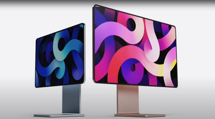 This Apple Silicon iMac Concept Features an iPad-Like Display With Flat Edges, Curved Corners Along With a Pro Display XDR Stand