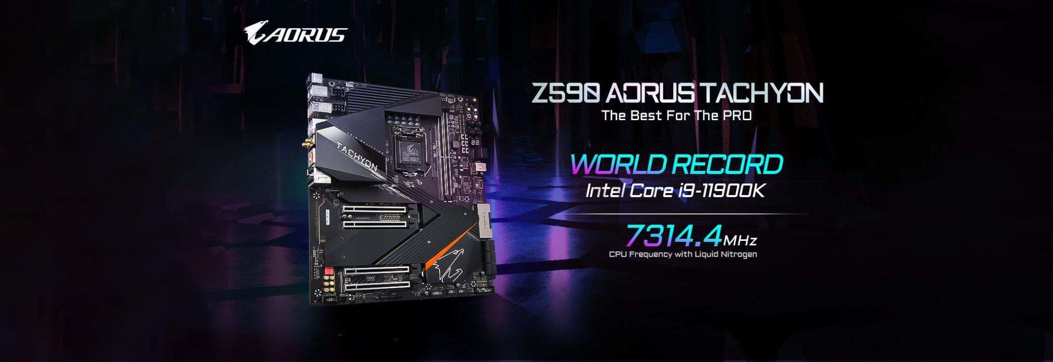 Intel Core i9-11900K Dioverclock Hingga Lebih Dari 7,3 GHz Pada Gigabyte Z590 AORUS TACHYON