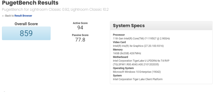 Intel Core i7-1195G7 Tiger Lake-U refresh CPU