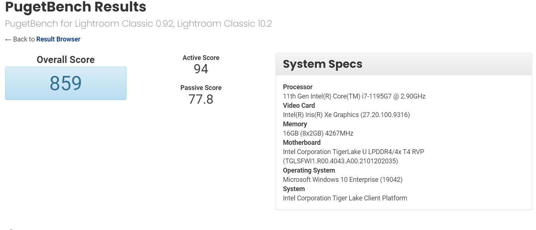 Intel Core i7-1195G7 Tiger Lake-U Refresh CPU