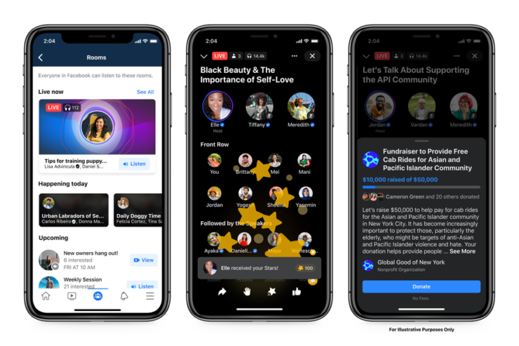 Live Audio Rooms is Facebook's Attempt at Creating a Clubhouse Clone
