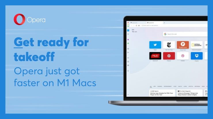 Opera web browser updated for M1 Macs