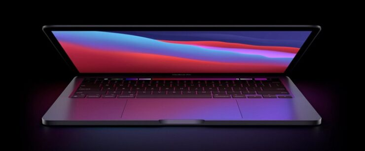 MacBook Pro with external cooling system