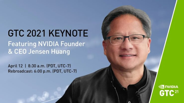 Watch the live broadcast of the NVIDIA GTC 2021 keynote hosted by CEO Jensen Huang
