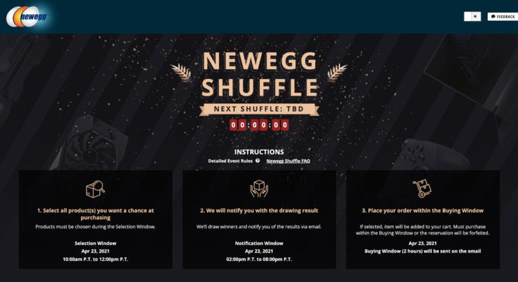 Newegg Shuffle Overview