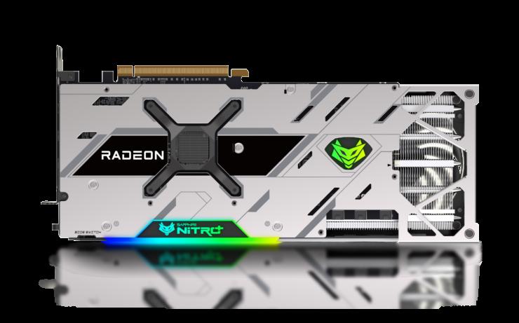 Backplate of Sapphire Nitro+ AMD Radeon RX 6900 XT