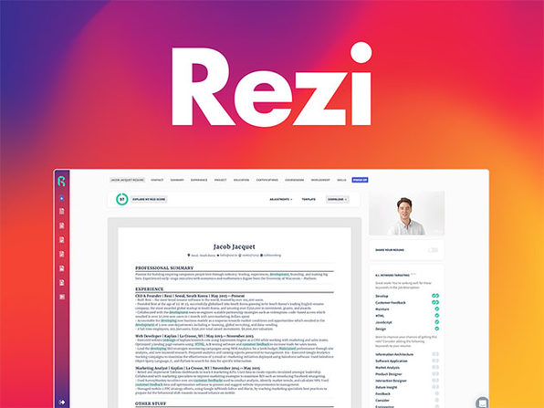 Rezi Resumé Software Pro Lifetime Subscription