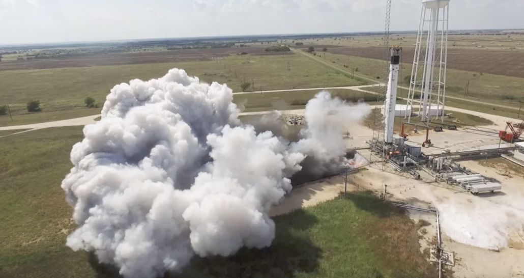 SpaceX Falcon 9 hot fire test Texas