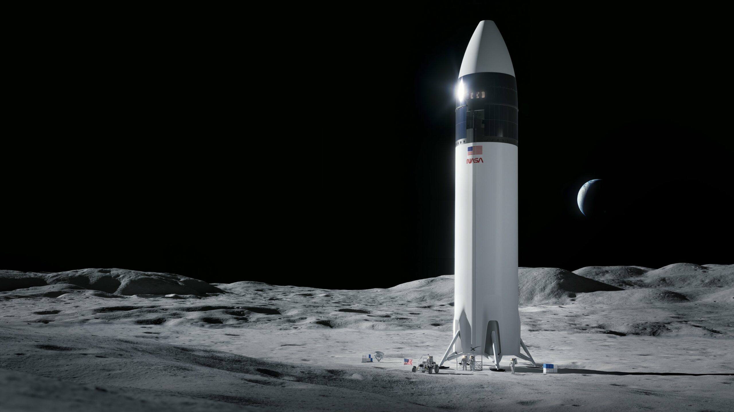 SpaceX To Use Solar Powered Moon Lander For NASA's Historic Missions