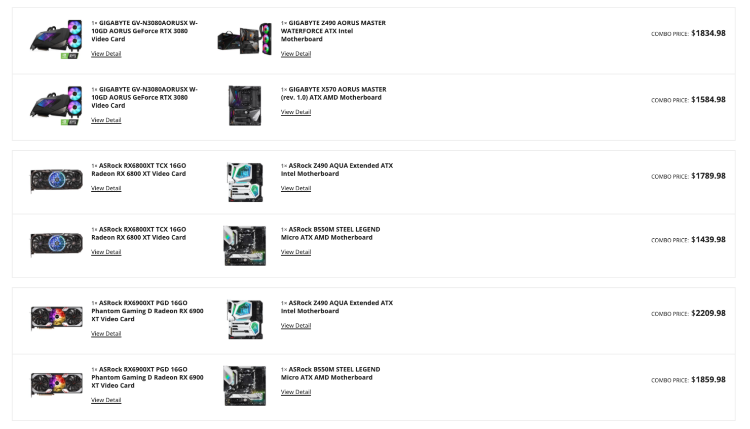 Selection of NVIDIA and AMD graphics cards for Newegg Shuffle on April 28