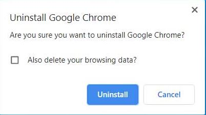 Unistalling Google Chrome - final