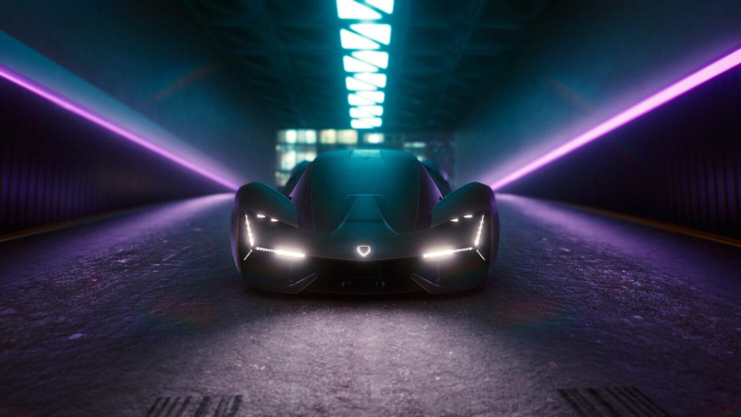 cyberpunk vehicle mod Lamborghini Terzo Millennio Electric Hypercar 20