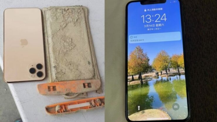 iPhone 11 Pro Max Recovered after one year under a lake
