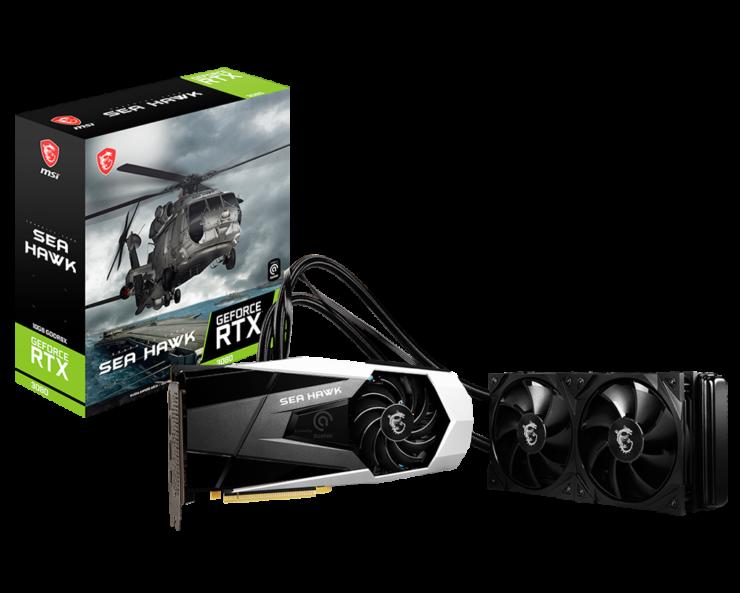 MSI GeForce RTX 3080 Sea Hawk X Package deal And GPU