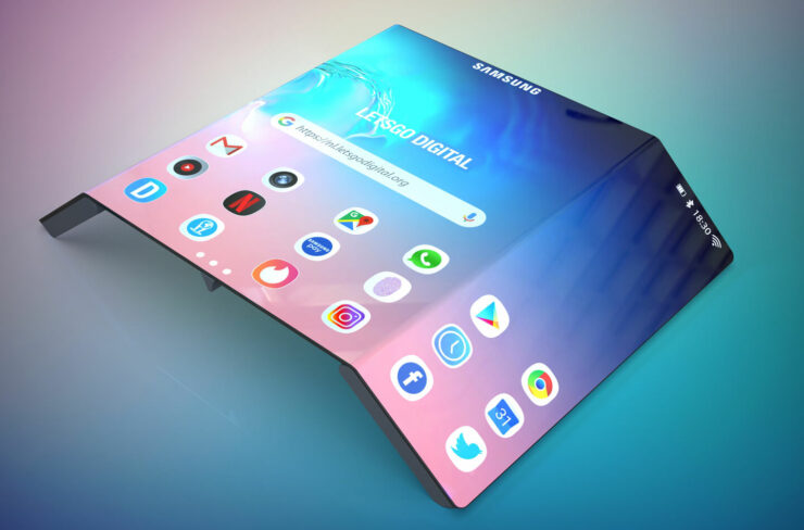 Samsung Has Filed a Patent for a Foldable Phone with 3 Displays and a Fast Charging Magnetic S-Pen