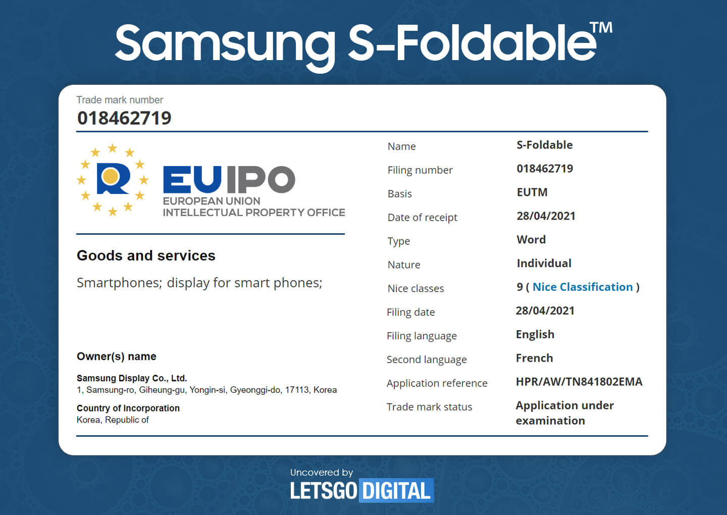 Samsung Files a Trademark for S-Foldable, a New Display for Foldable Devices