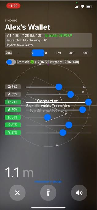Enable Hidden Developer Mode in Precision Finding on AirTag
