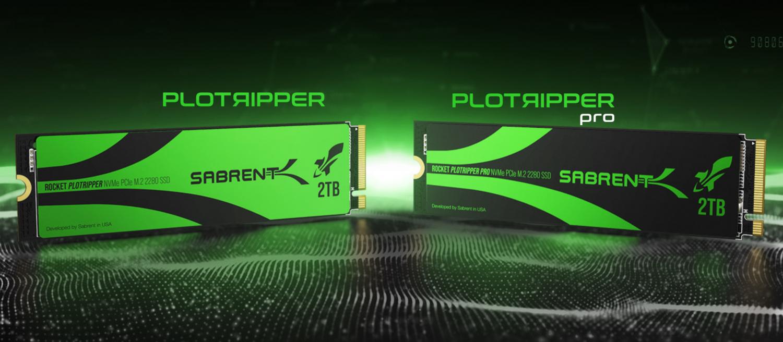 Sabrent odhalil přelomový Plotripper Plotting SSD pro farming Chia Coinu