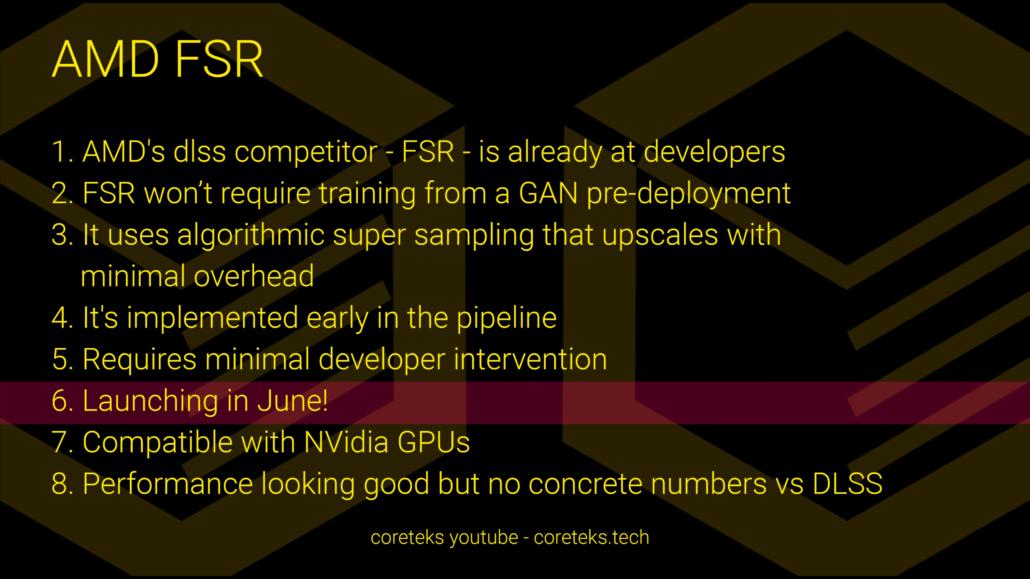 AMD FidelityFX Super Resolution Launch in June, NVIDIA DLSS