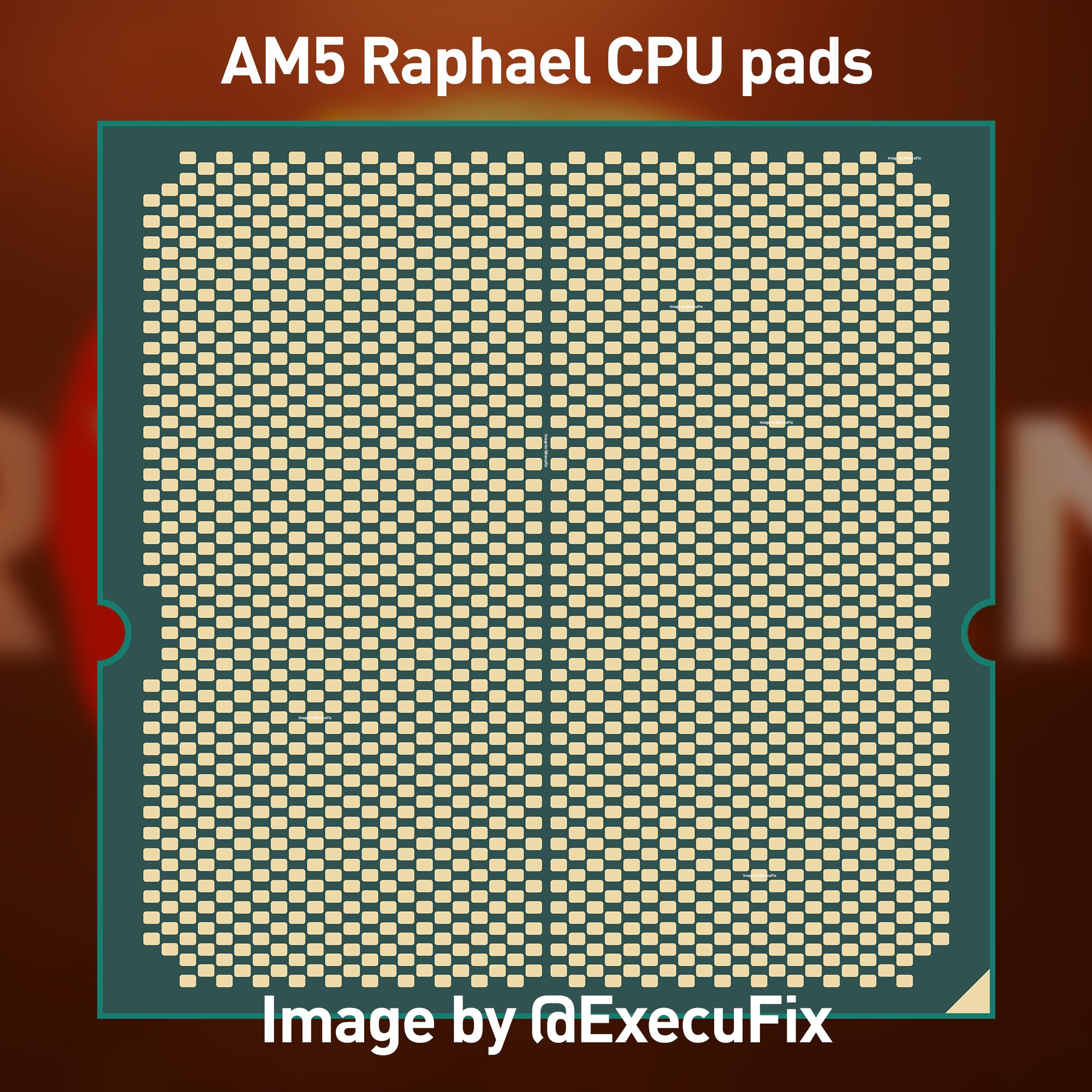 Mockup CPU Desktop AMD Zen 4 'Raphael' Ryzen Telah Muncul