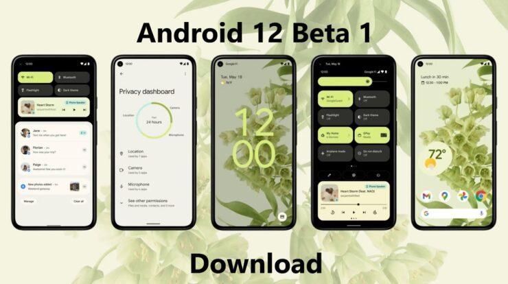 Android 12 Beta 1 Download on Pixel Phones